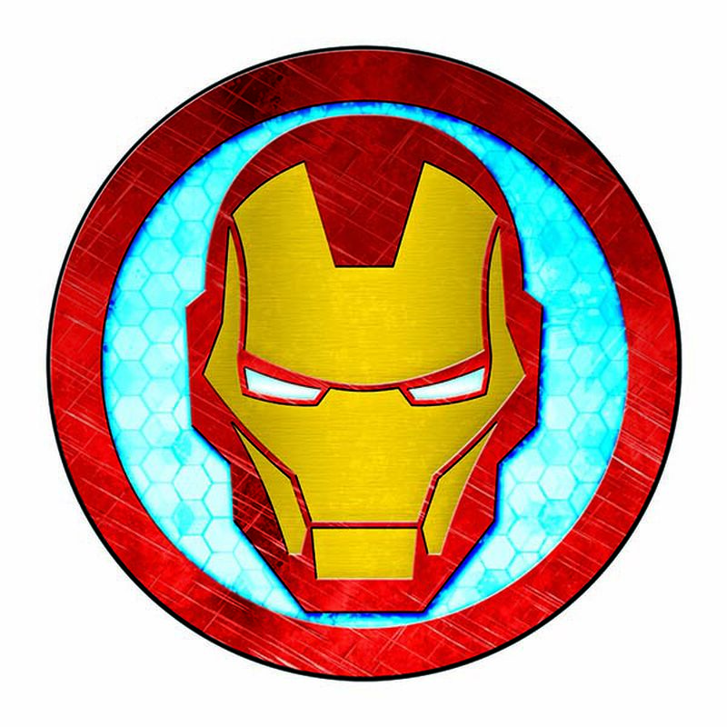 Avengers Iron Man Symbol Temporary Tattoo image number null