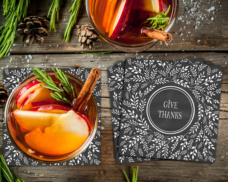 Give Thanks Coaster Gift Box image number null