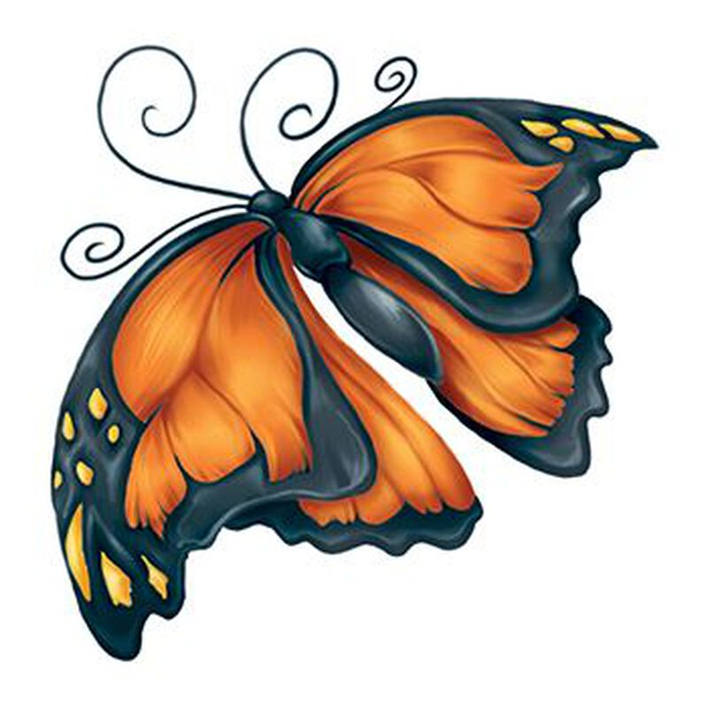 Modern Monarch Temporary Tattoo image number null