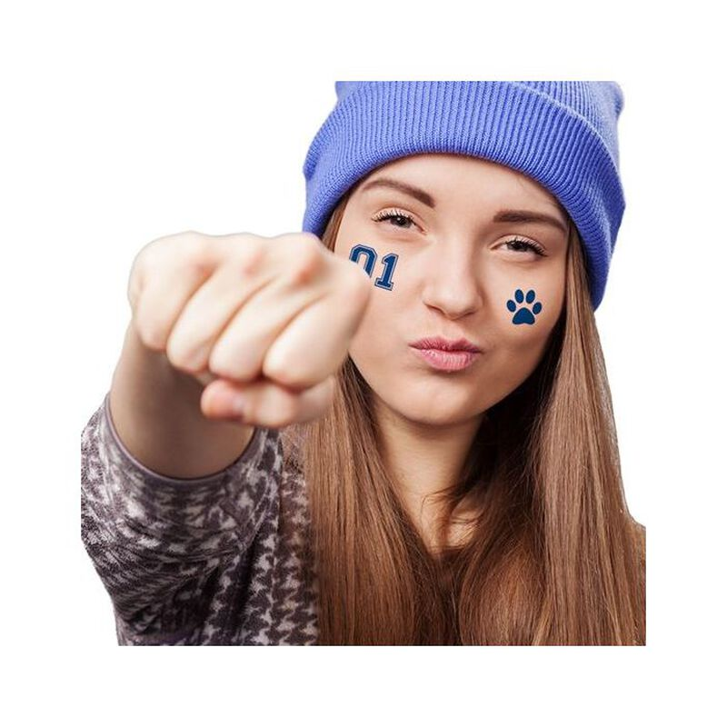 Blue Sports Numbering Temporary Tattoos image number null