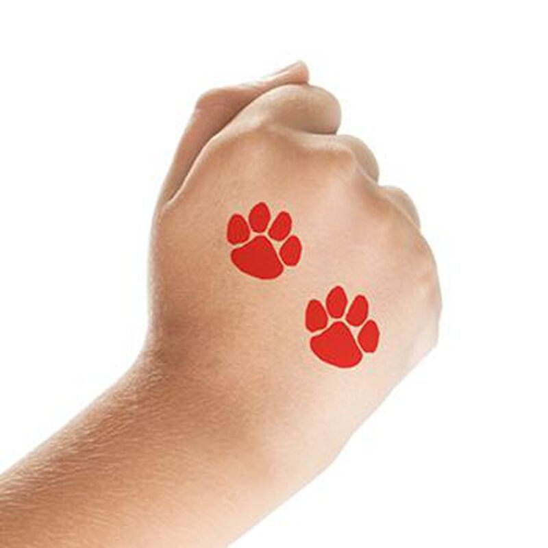 Two Red Paws Temporary Tattoo image number null