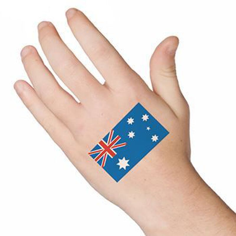 Australia Flag Temporary Tattoo image number null