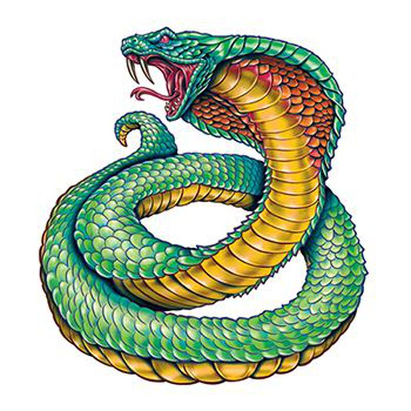 Cobra Snake Temporary Tattoo image number null