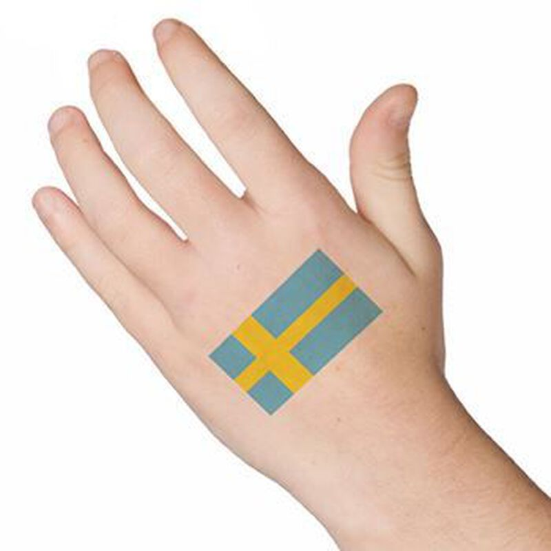 Sweden Flag Temporary Tattoo image number null