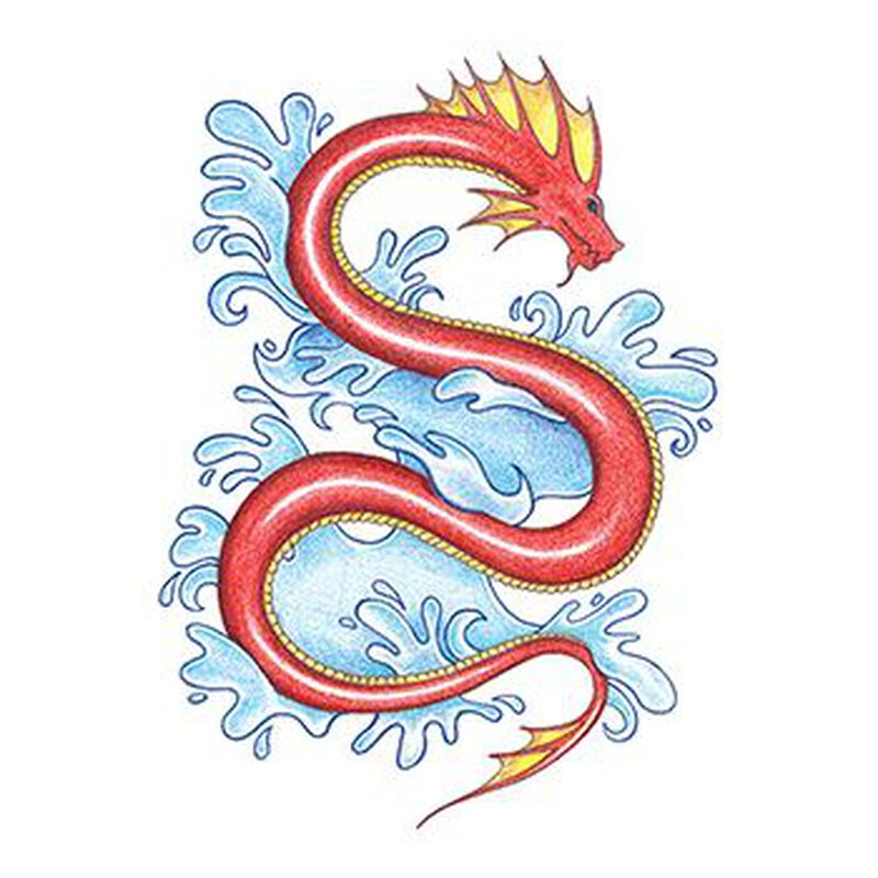 Traditional Sea Snake Temporary Tattoo image number null