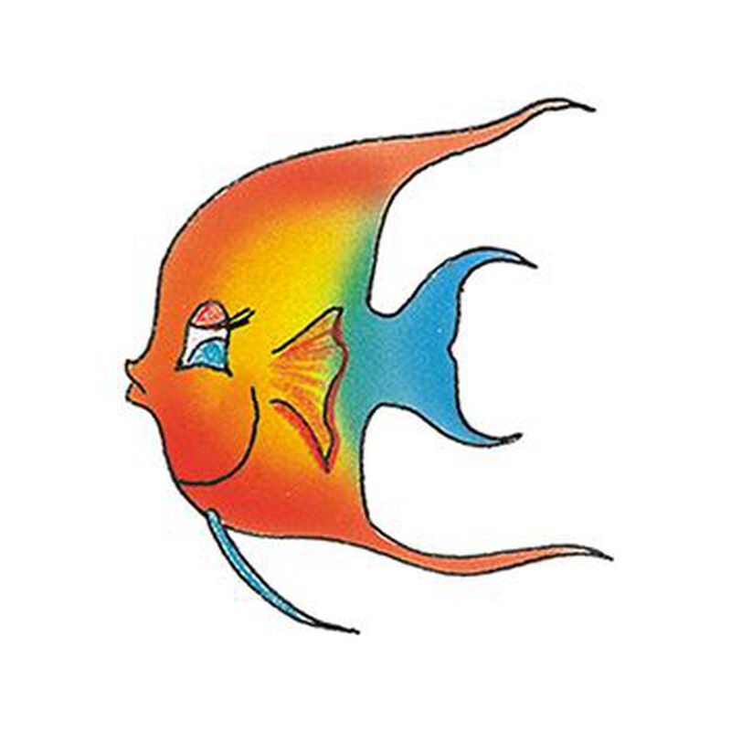 Rainbow Angel Fish Temporary Tattoo image number null