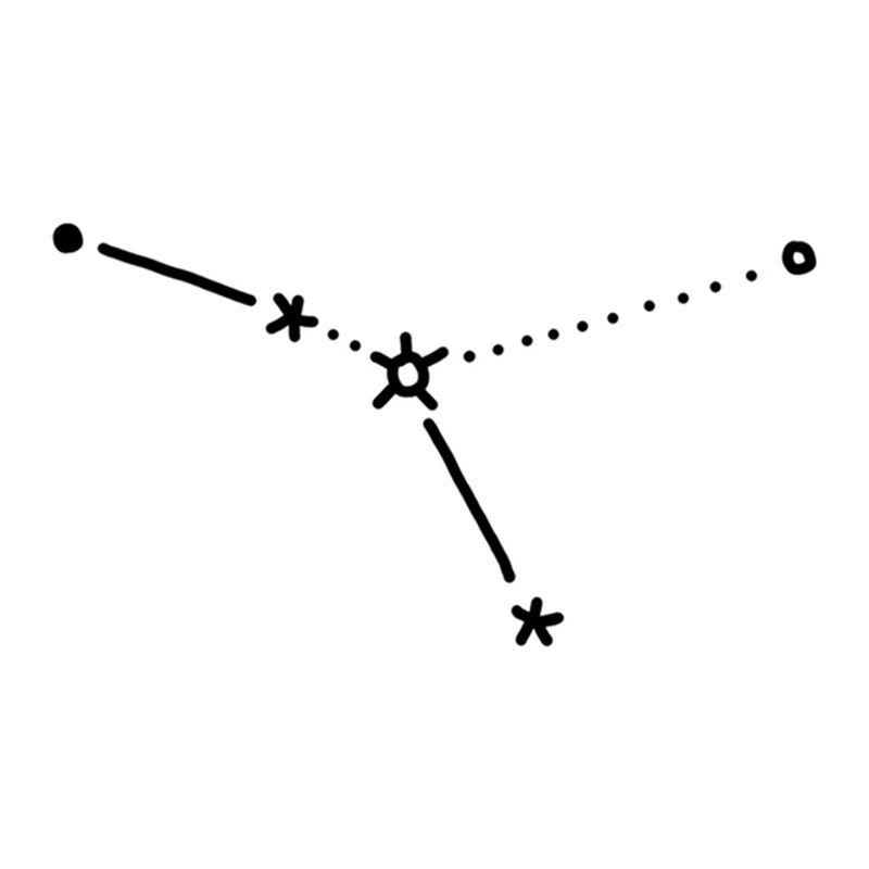 Cancer Constellation Temporary Tattoo image number null
