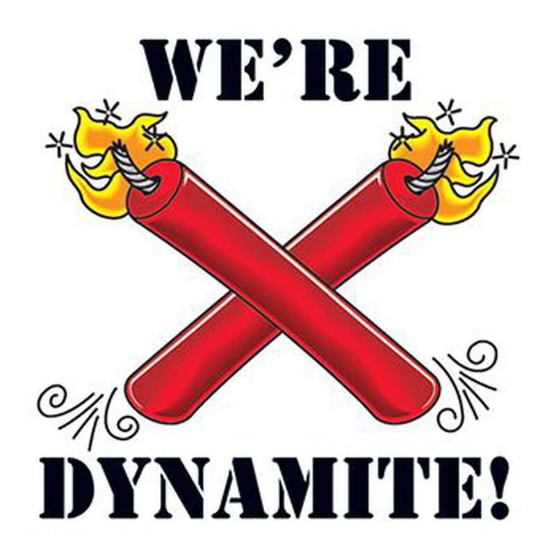 We're Dynamite Temporary Tattoo image number null