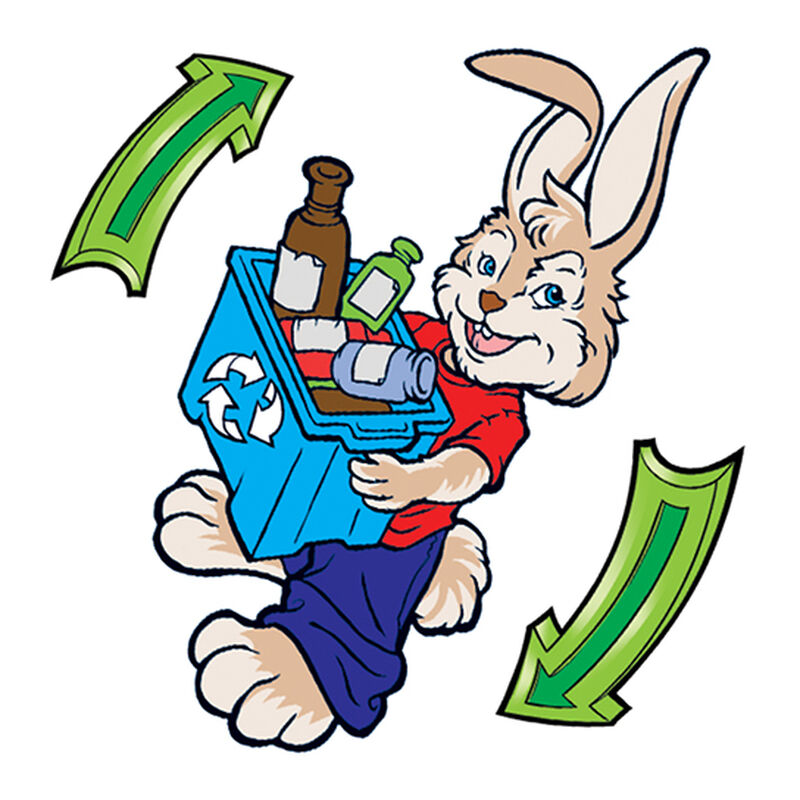 Rabbit Recycler Temporary Tattoo image number null