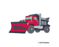 Tonka Plow Truck Temporary Tattoo