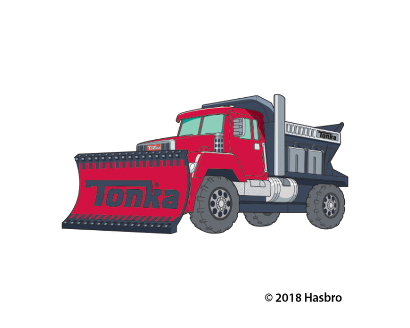 Tonka Plow Truck Temporary Tattoo image number null