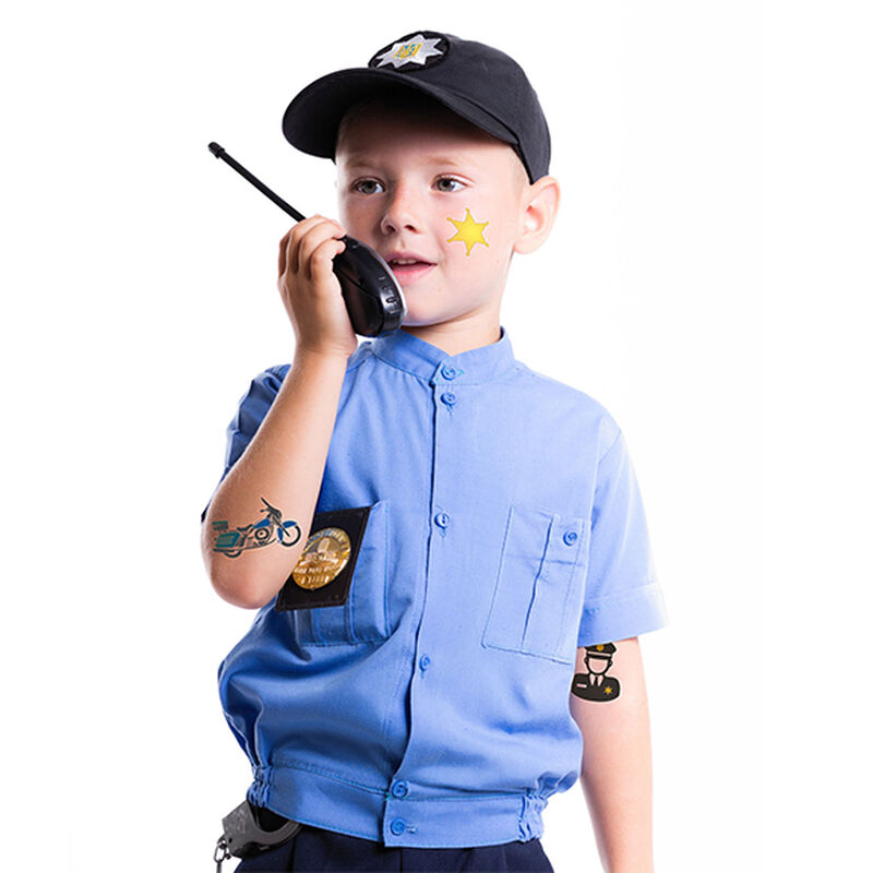 Police Safety Set of Temporary Tattoos image number null
