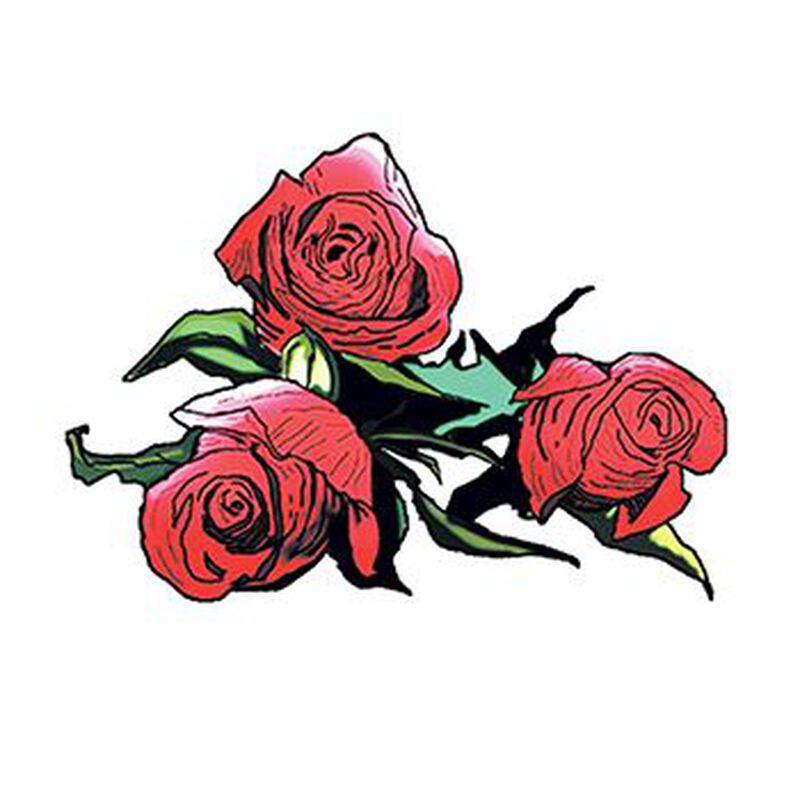 Three Roses Temporary Tattoo image number null
