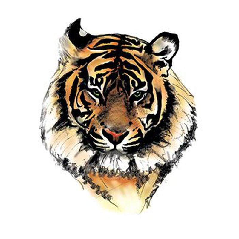 Tiger Face Temporary Tattoo image number null