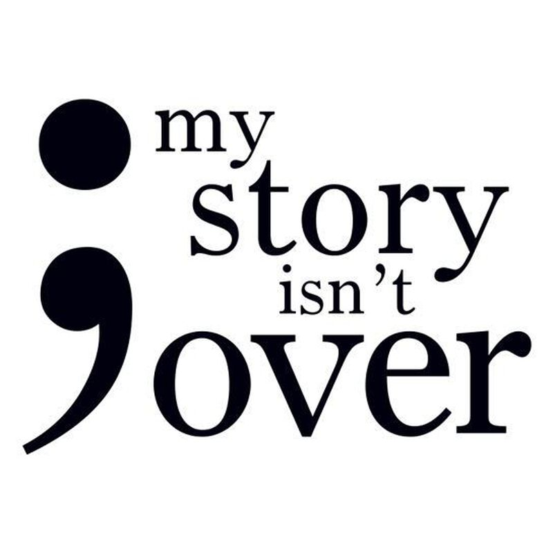 Semicolon Temporary Tattoo: My Story Isn't Over image number null