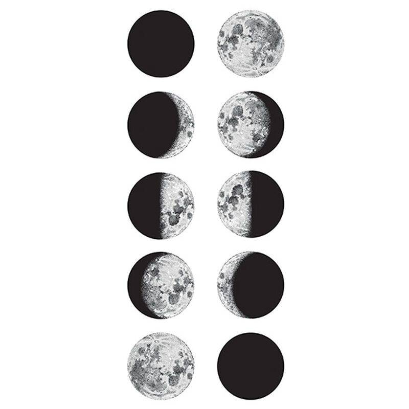 Moon Phases Temporary Tattoo image number null