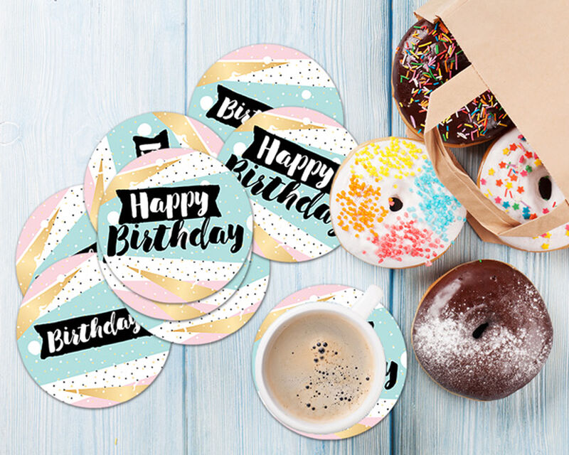 Happy Birthday Coaster Gift Box image number null