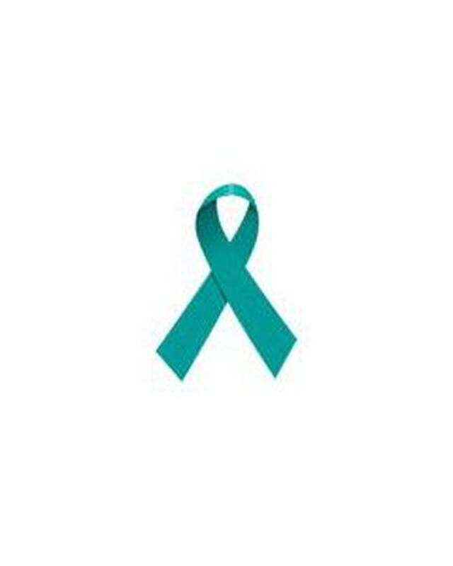 Teal Ribbon Temporary Tattoo image number null