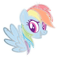 My Little Pony Rainbow Dash Metallic Temporary Tattoo