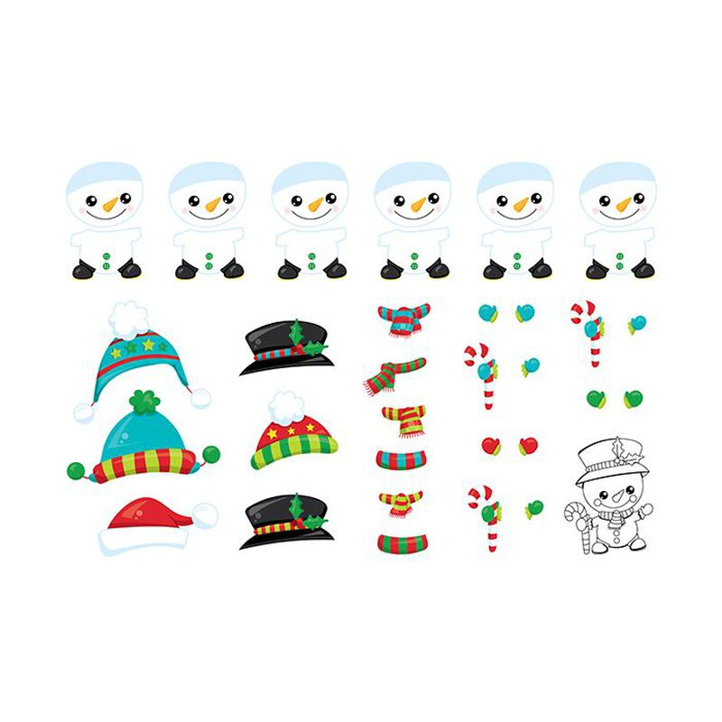 Build-A-Snowman Activity Temporary Tattoo image number null