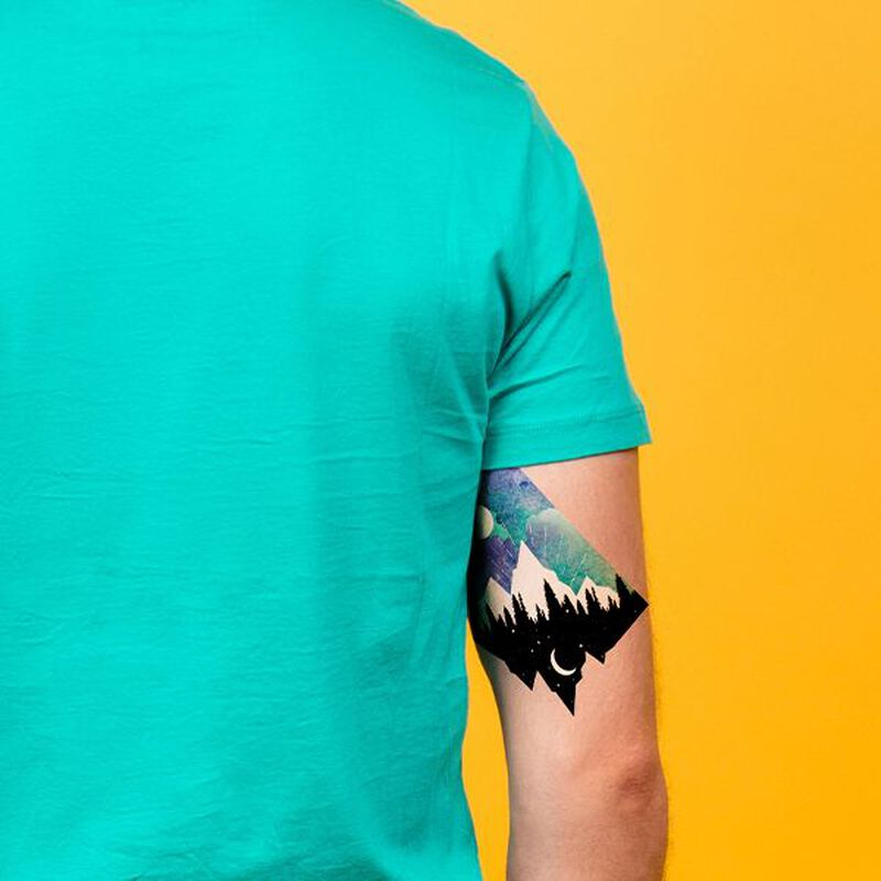 Mountain Landscape Temporary Tattoo image number null