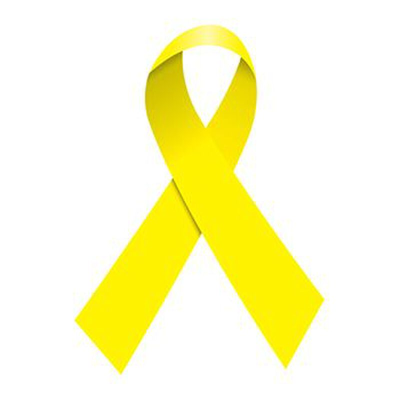 Yellow Awareness Ribbon Temporary Tattoo image number null