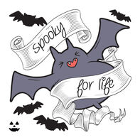 Spooky for Life Temporary Tattoo