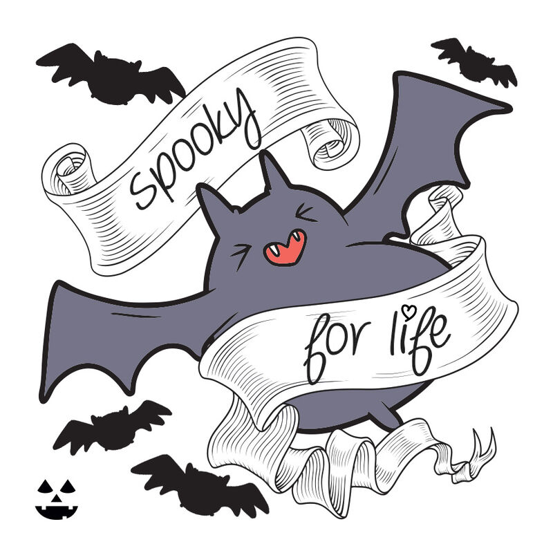 Spooky for Life Temporary Tattoo image number null