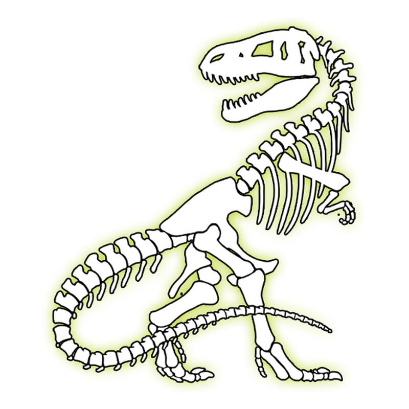 Glow T-Rex Temporary Tattoo image number null