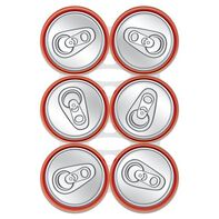 Six Pack Soda Abs Temporary Tattoo