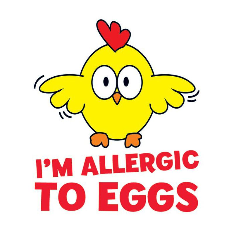 Egg Allergy Temporary Tattoo image number null