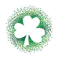 Metallic Shamrock Outline Temporary Tattoo