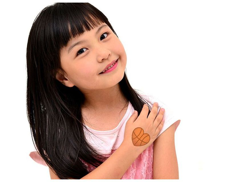 Basketball Heart Temporary Tattoo image number null