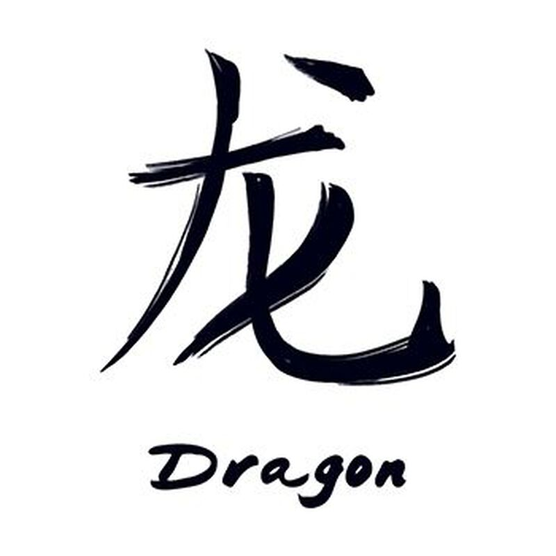 Chinese Zodiac: Dragon Temporary Tattoo image number null