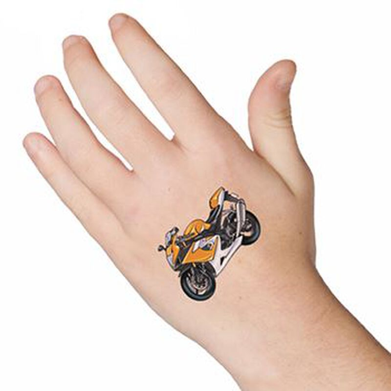 Motorcycle Temporary Tattoo image number null
