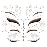 Animal Deer Face Eyes Costume Tattoo