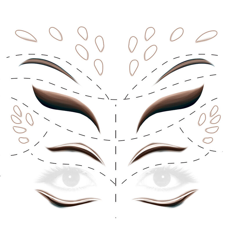 Animal Deer Face Eyes Costume Tattoo image number null