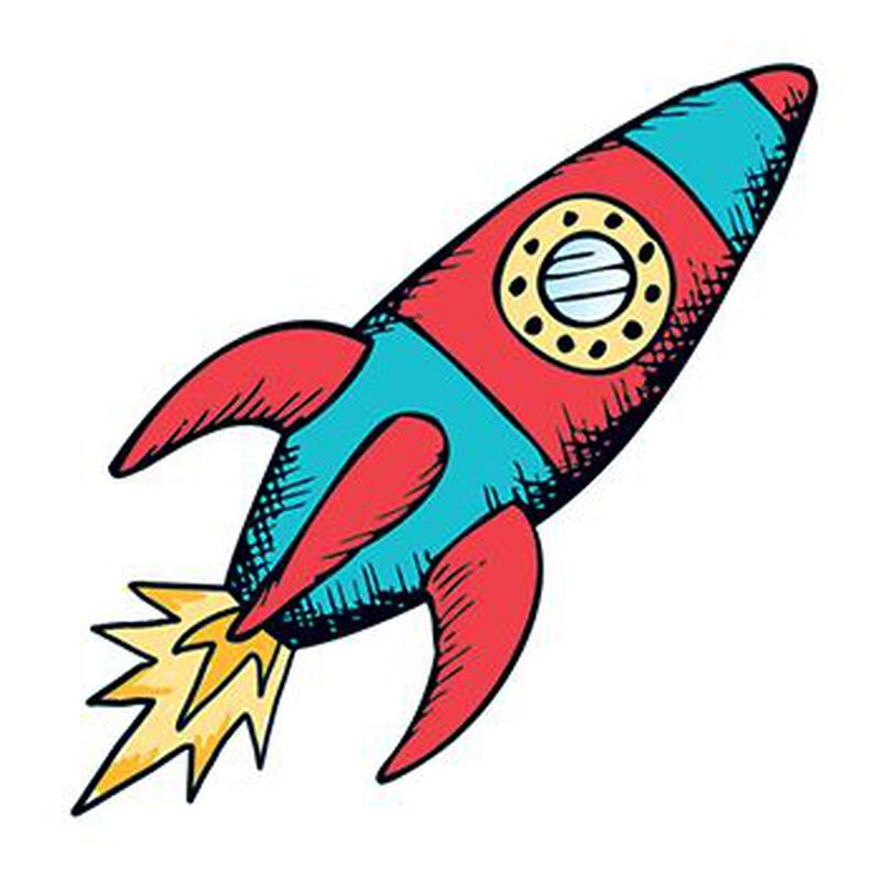 Rocketship Temporary Tattoo image number null