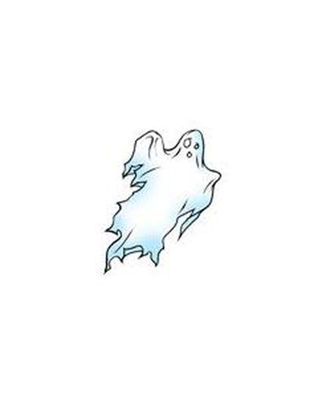Spooky Ghost Temporary Tattoo image number null