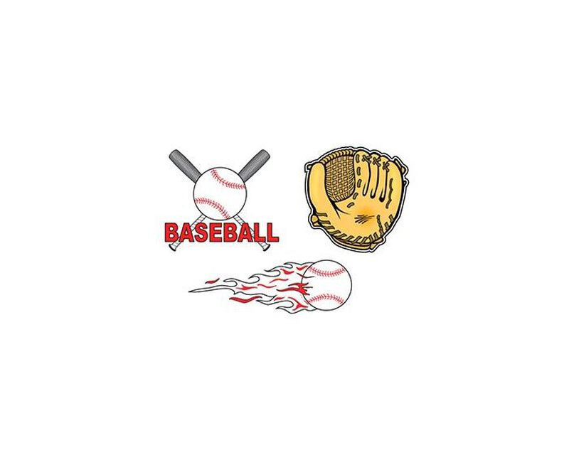 Baseball Set of Temporary Tattoos image number null