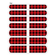 Buffalo Plaid Nail Temporary Tattoo