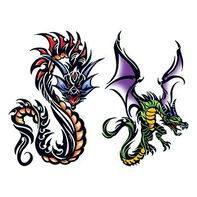 Ethelinda Dragons Temporary Tattoo Set