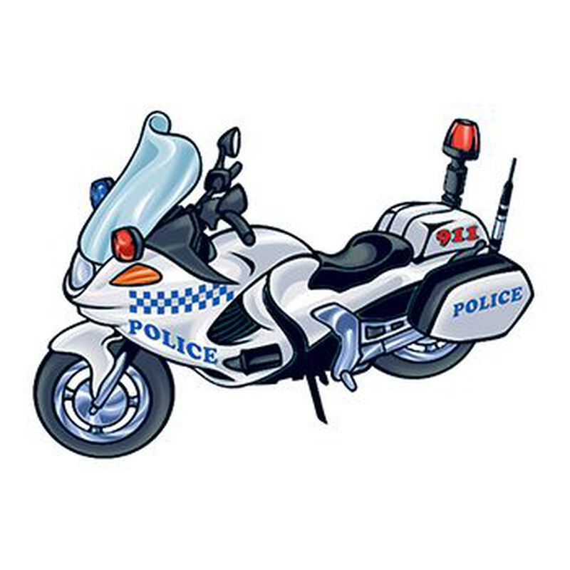 Police Motorcycle Temporary Tattoo image number null