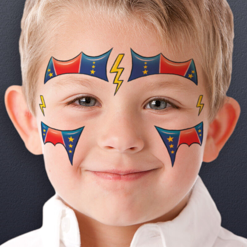 Super Hero Kids Costume Tattoo image number null