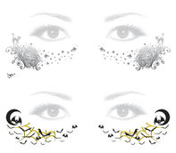 Cats and Bats Halloween Freckles Temporary Tattoo