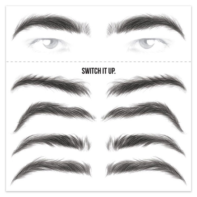Men's Black Eyebrow Temporary Tattoos image number null