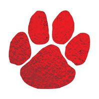 Metallic Red Paw Temporary Tattoo