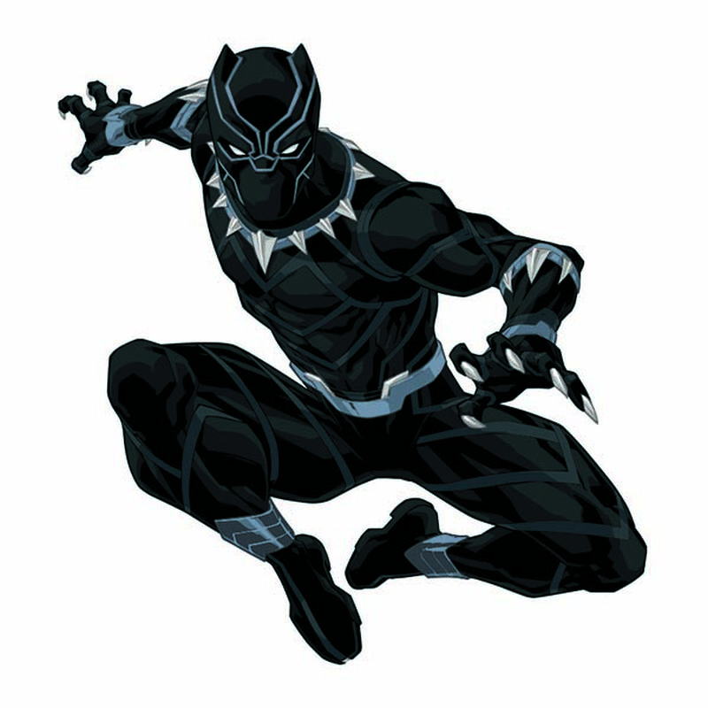 Avengers Black Panther Temporary Tattoo image number null