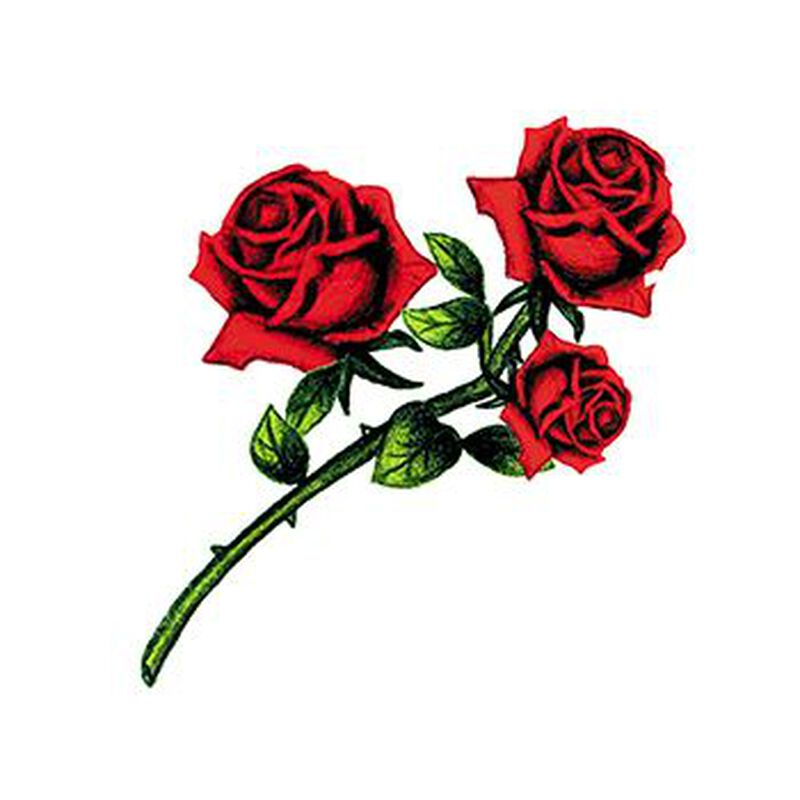 Multiple Roses Temporary Tattoo image number null