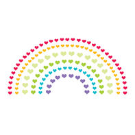 Heart Rainbow with Reveal Glow-in-the-Dark Temporary Tattoo